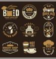 set coffee and bakery shoplogo badge vector image