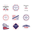 set label independence day vector image vector image