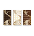 set of chocolate bar package vector image vector image