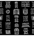 set various window shapes vector image vector image