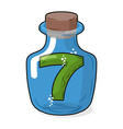 Seven scientific bottle for laboratory research vector image vector image