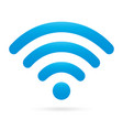sky light blue wifi icon wireless symbol on vector image vector image