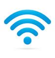 sky light blue wifi icon wireless symbol vector image vector image