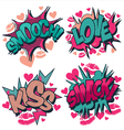 Smooch love kiss smack comic book style vector | Price: 1 Credit (USD $1)