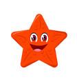 Starfish cartoon or clipart cartoon isol
