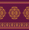 textile design in oriental style vector image