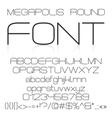 Trendy modern elegant font alphabet vector image