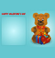 valentines day postal card with congratulations a vector image vector image