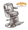 vintage barbershop hand drawn leather chair vector image vector image