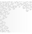 white patterned background 3d effect of paper vector image vector image