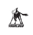 wildebeest logo sign on white vector image vector image