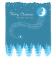 winter landscape with nice moon and forest vector image vector image