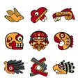 Aztec symbols vector image