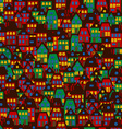 Cartoon background with houses vector image