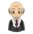 A bald businessman vector image vector image
