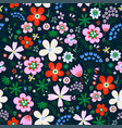 amazing floral seamless pattern flowers vector image vector image