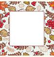 autumn leaf ornamental frame vector image vector image