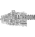 bathroom accessories dust rose text word cloud vector image vector image