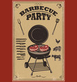 bbq party poster barbeque and grill design vector image