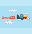 bear flying in sky follow your dreams vector image