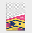 brochure template layout cover design annual vector image vector image