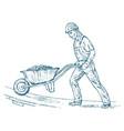 builder technician or cement worker engineer in vector image vector image