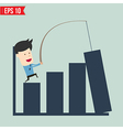 Business man show news board - - EPS10 vector image vector image