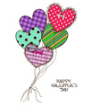 Card with scrap booking heart air balloons vector image vector image