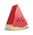 cartoon piece watermelon slice watermelon vector image vector image