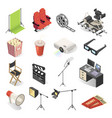 cinema production and movie watching icon set vector image