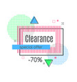 colorful abstract frame for sale styled banner vector image