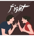 couple fight man woman screaming argue shouting to vector image vector image