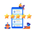 customer feedback prople rating with stars vector image