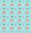 cute christmas seamless pattern with santa vector image