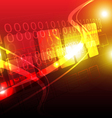 digital techonology background vector image vector image
