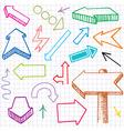doodle arrows vector image vector image