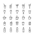 drinks and beverages line icons set vector image vector image
