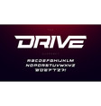 drive font bold italic letters with dynamic slant vector image vector image