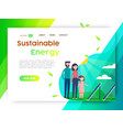 eco friendly campaign web landing page template vector image vector image