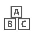 education abc blocks icon simple vector image