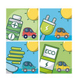 electric car and green energy vector image vector image