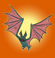 evil vampire bat halloween character vector image
