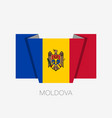 flag of moldova flat icon waving flag with vector image