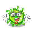 geek cartoon microba virus bacteria in body vector image