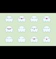 Ghost emoji vector image vector image