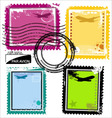 grunge stamps vector image vector image