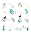gynecology isometric icons set vector image vector image