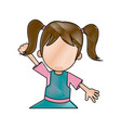 happy girl cartoon character fun vector image vector image