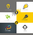 logo design light bulb as main idea vector image vector image