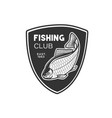 logos on a fishing theme fishing vector image vector image